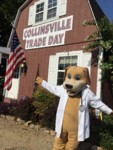 MainStreet mascot Collinsville event