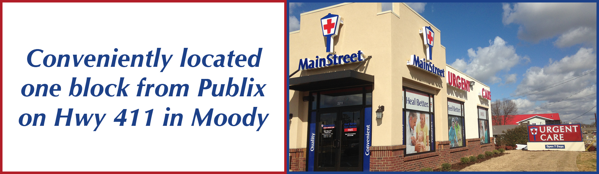 Urgent Care and Primary Care in Moody - MainStreet Family Care