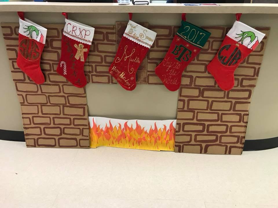 stockings on a fireplace at urgent care in Eufaula