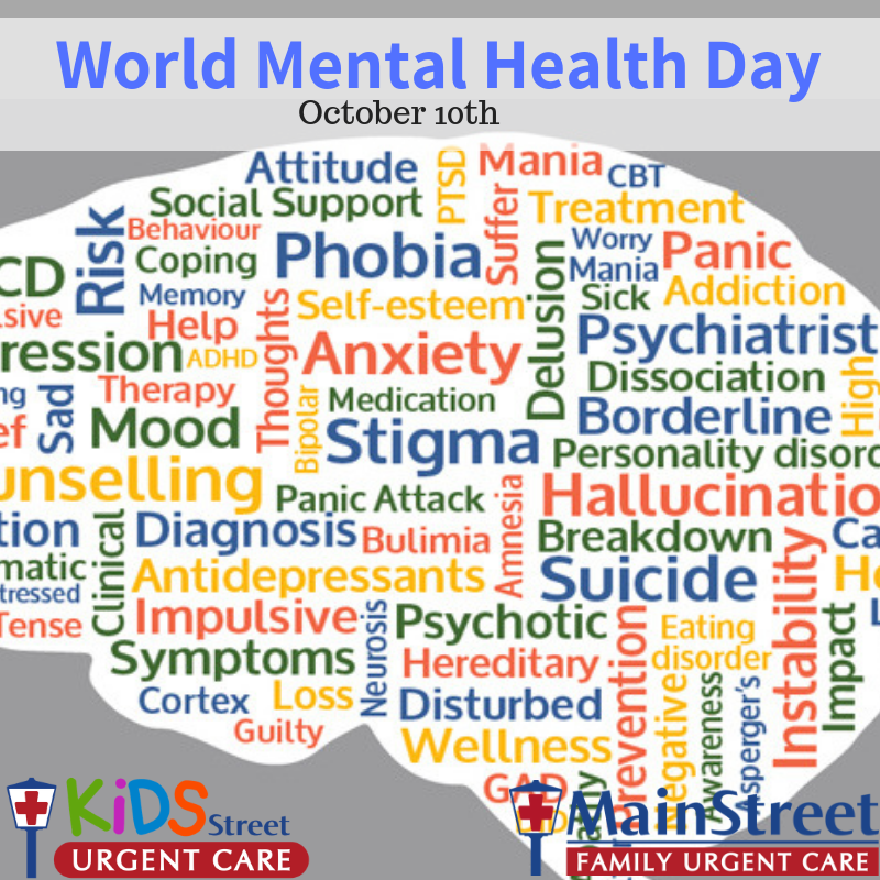 World Mental Health Day Is October 10th Mainstreet Family Care