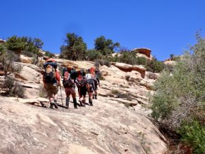 Our MAP class hikes through the desert